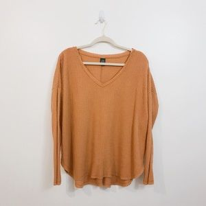 Wild Fable Long Sleeve Waffle Knit Top